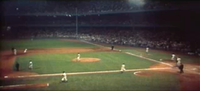 A view of pre-renovated Yankee Stadium in 1956