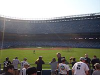 The grandstand during batting practice
