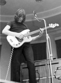 Waters performing with Pink Floyd at Leeds University in 1970