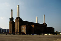 Battersea Power Station is featured in the cover image for Animals