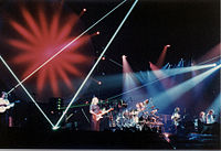 Pink Floyd in 1989 on the Momentary Lapse of Reason tour