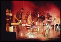 Pink Floyd performing on their early 1973 US tour, shortly before the release of The Dark Side of the Moon
