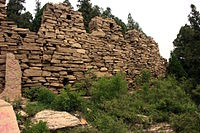 Remnants of the Great Wall of Qi on Dafeng Mountain, Changqing District, Jinan, which was once part of the ancient State of Qi during the Warring States Period.