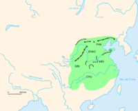 Map of the Warring States and their frontier walls