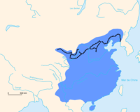 The extent of the Ming dynasty and its walls, which formed most of what is called the Great Wall of China today