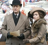 Bonham Carter and Colin Firth in the 2010 film The King's Speech