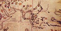 Anonymous map c.1550 of Eastern Africa, Asia and Western Oceania