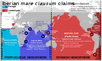 Iberian mare clausum claims during the Age of Discovery.