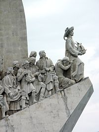 Monument to the Portuguese Discoveries in Belém, Lisbon, Portugal.