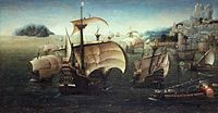 The carrack Santa Catarina do Monte Sinai and other Portuguese Navy ships in the 16th century.