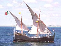 The caravel ship introduced in the mid-15th century which aided Portuguese exploration