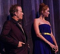 Waits next to Lily Cole at the premiere for The Imaginarium of Doctor Parnassus at the 2009 Toronto International Film Festival