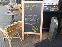 Bitcoins were accepted in this café in Delft in the Netherlands in 2013