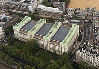 The Ministry of Defence building at Whitehall, Westminster, London