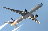 A 777-300ER in livery of Air France, its launch operator.