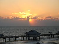 Sunset on Clearwater Beach