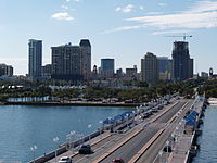 St. Petersburg skyline from the Pier