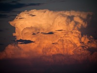 Cumulonimbus clouds like this one are a frequent sight during the rainy season