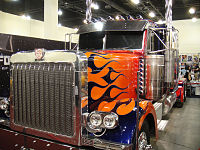 A Peterbilt 379 used for the alternate mode of Optimus Prime