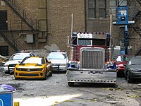 Vehicles used on the set of Transformers: Dark of the Moon