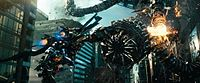 Considerable digital animation was required for the elaborate Driller as it comprised over 70,000 parts, significantly more than Optimus Prime's 10,000 parts.