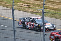 DiBenedetto racing at New Hampshire Motor Speedway in 2015