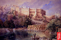 A view of the fort at Amer in Rajasthan; a watercolor by William Simpson, c.1860