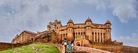 A panoramic view of Amer Fort.