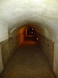 Tunnels inside the fort