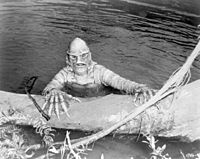The Gill-man from Creature from the Black Lagoon was an inspiration for del Toro's concept.