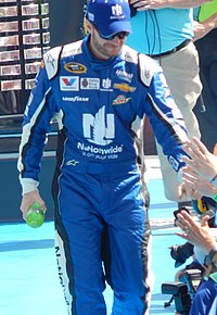 Dale Earnhardt Jr., seen here at the 2015 Daytona 500, scored the victory at Talladega.