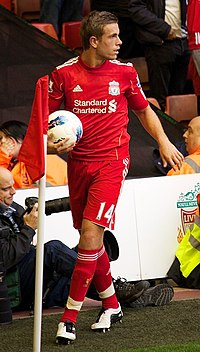 Henderson playing for Liverpool in 2011