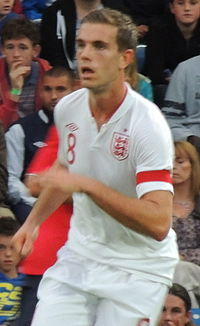 Henderson playing for England U21s in 2012