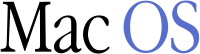 The text-only logo for Classic Mac OS starting with Mac OS 7.6, released in 1997