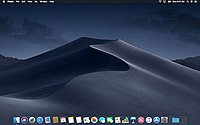 macOS Mojave, released in 2018