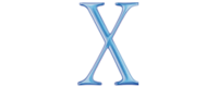 """The """"X"""" logo for Mac OS X versions 10.0 """"Cheetah"""" and 10.1 """"Puma"""", released in 2001"""