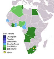 Best results of African men's national football teams at the FIFA World Cup