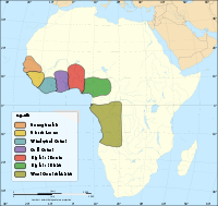 Major slave trading regions of Africa, 15th–19th centuries.