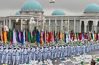 Parade celebrating the 20th anniversary of Turkmenistan's independence