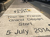 Location of the 2014 Grand Depart