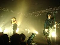 Nine Inch Nails live on tour in 2005