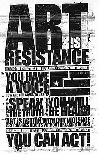 An Art is Resistance flyer from the Year Zero alternate reality game