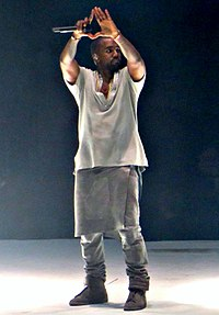 West performing during Yeezus Tour in 2013