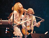 Ian Anderson and Martin Barre of Jethro Tull in Chicago, 1973