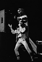 Ian Anderson during a Broadsword and the Beast concert in Dallas, Texas, 1982.