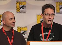 Matt Weitzman (left) is a former staff writer and Mike Barker is a former producer and writer of the show. Both left the series to create the ongoing adult animated sitcom American Dad! with Seth MacFarlane. Barker would depart American Dad! as well, following production of the show's 10th season.