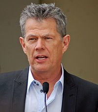 David Foster speaks at the ceremony honoring Bocelli with his star.