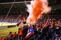 Puerto Rico Islanders fans at a soccer game