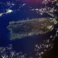 Puerto Rico seen from space (STS-34 mission)