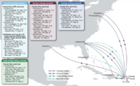 A map of the Jones Act merchant marine shipping routes for Puerto Rico